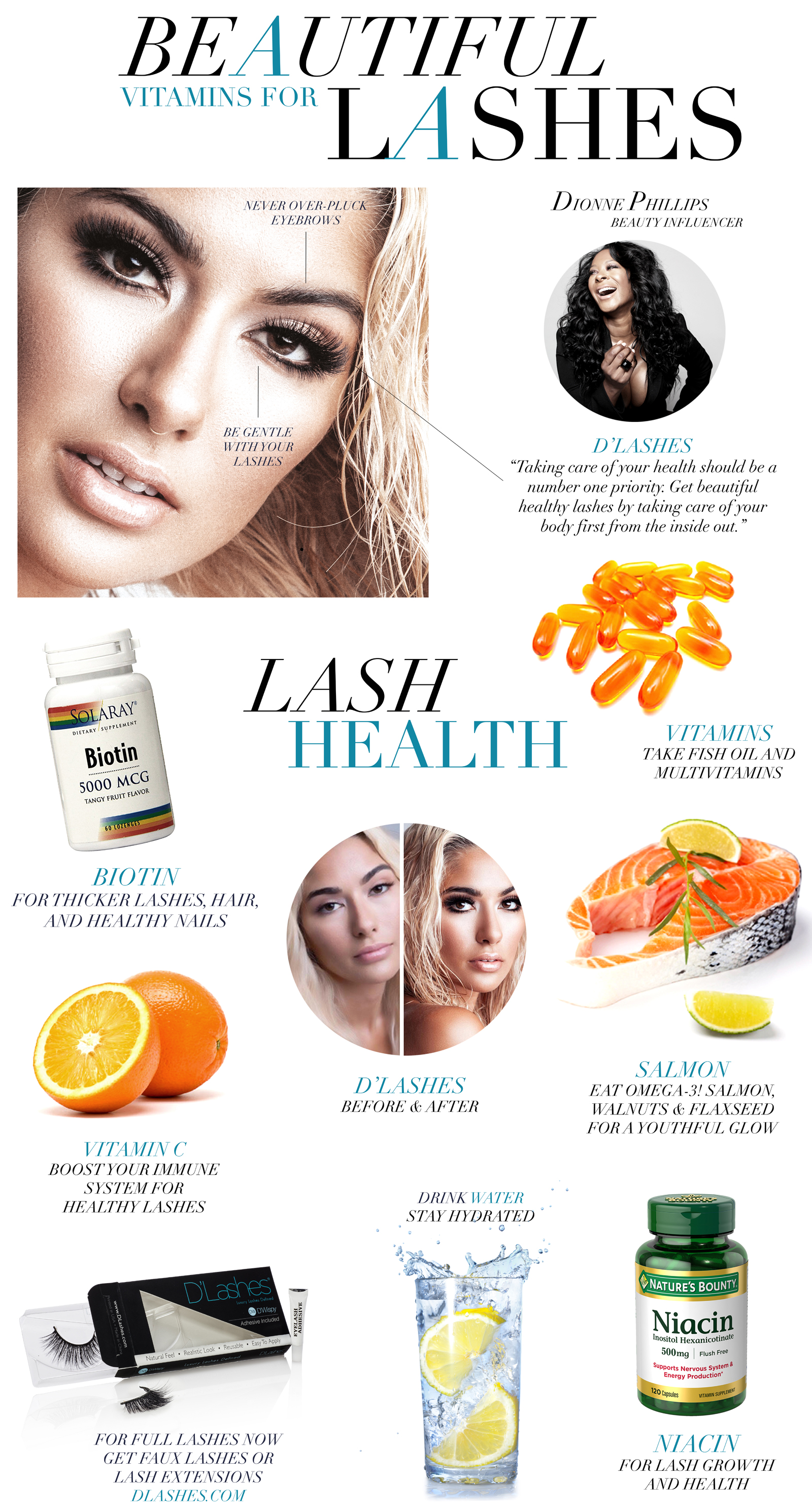 D'lashes Vitamins Healthy Lashes Beauty Blog